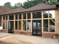 Oak windows and door by Woodcraft Construction Berkshire