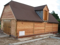 Oak Garage by Woodcraft Construction Berkshire