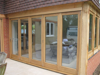 Oak folding sliding doors