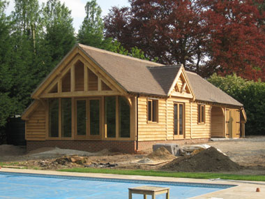 Oak framed outbuilding in Devon