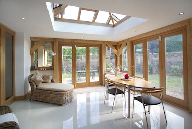 oak framed orangery garden room