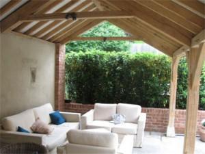 Oak framed veranda