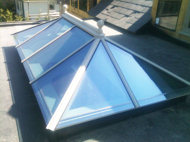 Hardwood roof lantern in berkshire