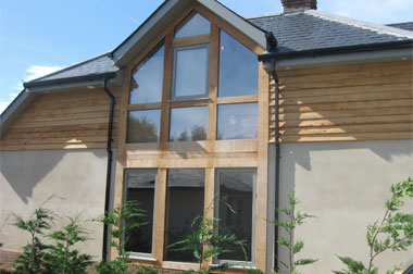 Accoya windows in oak frame