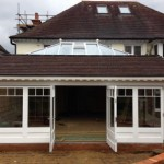 6m folding sliding doors showing first opening devon