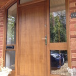 solid oak front door with curved frame berkshire