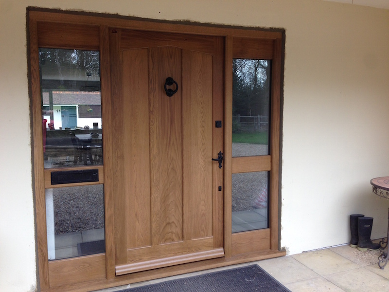 Traditional Solid Oak Front Door WoodCraft Construction - Solid front doors